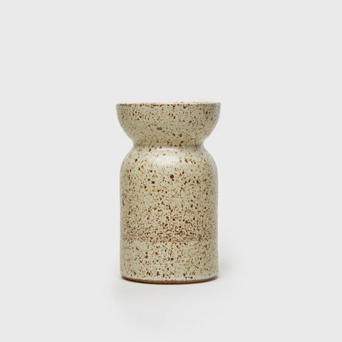 Wide Mouth Vase - Natural Speckle