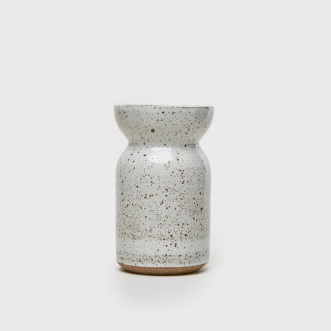 Wide Mouth Vase - White Speckle