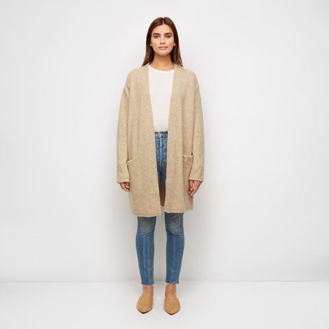 Yak Sweater Coat - Flax