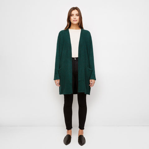 Yak Sweater Coat - Forest Green