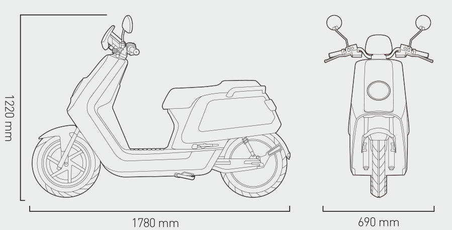 NIU N-GT - 45mph Electric Moped / Scooter