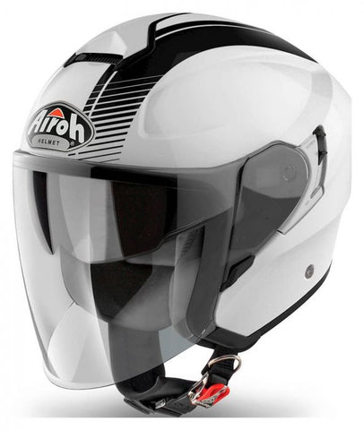 Airoh-Hunter Jet Helmet-Moped Helmet-White Gloss-XS 53-54cm-urban.ebikes