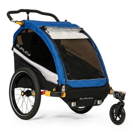 Burley-Burley D'Lite Double Kids Performance Bike Trailer Stroller-Trailer-urban.ebikes