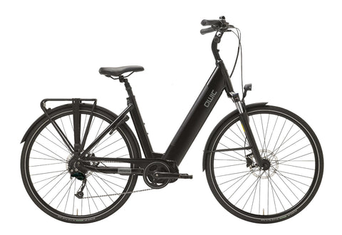 QWIC-MD9 Premium I - In Stock-Classic ebike-Matt Black Comfort-Small 46cm-400Wh-urban.ebikes