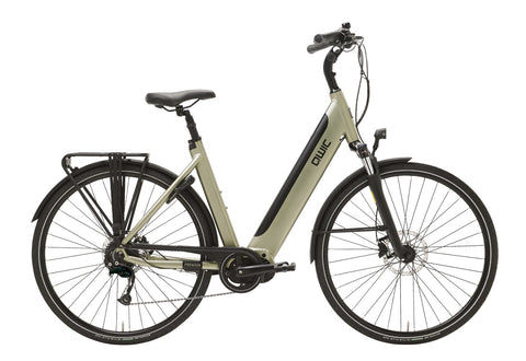 QWIC-MD9 Premium I-Classic ebike-Timber Green Comfort-Small 46cm-400Wh 55 Miles-urban.ebikes