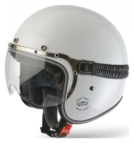 Airoh-Garage Urban Jet Open Face Helmet-Moped Helmet-XS 53-54cm-White Gloss-urban.ebikes