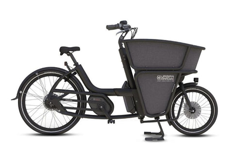 Urban Arrow-Shorty-Cargo eBike-Black-Active Line Plus Disc Deore 400Wh-urban.ebikes