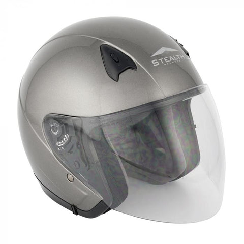 Stealth-NT200 Adult Open Face Helmet-Moped Helmet-urban.ebikes