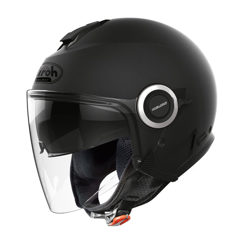 Airoh-2020 Airoh Helios Jet Helmet - Three Colours-Moped Helmet-Black Matt-XS-urban.ebikes