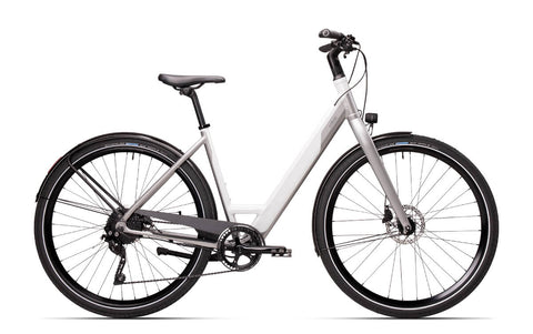 "Coboc-SEVEN Kallio-Classic ebike-Small - Under 5ft 7""-Cloud White - Neo Silver-urban.ebikes"