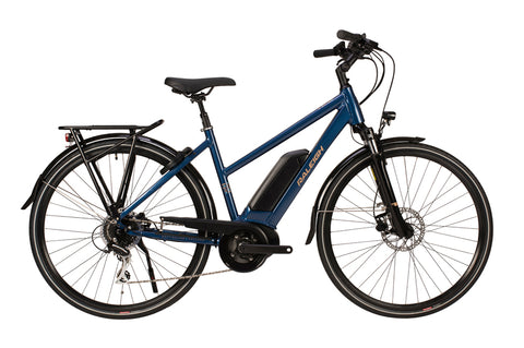 Raleigh-Motus Tour Open Frame Step Through Blue-Classic ebike-urban.ebikes