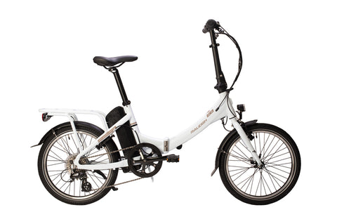 Raleigh-StowEway Folding-Folding ebike-White - June Dispatch-urban.ebikes