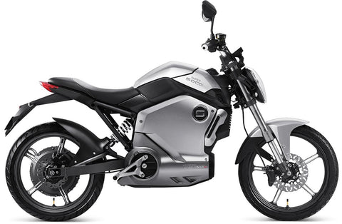 Super Soco-TS1200R Electric Moped / Scooter-Electric Scooter-Silver-1-urban.ebikes