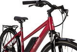 Raleigh-Motus Open Frame Step Through Red-Classic ebike-urban.ebikes
