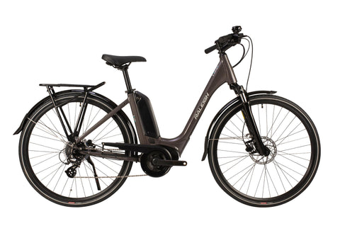 "Raleigh-Motus Step Through-Classic ebike-Grey-46cm Frame 26"" Wheel-urban.ebikes"