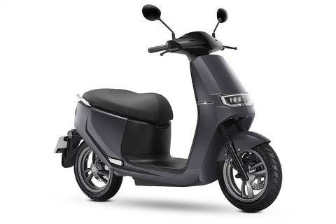 Ecooter-E2 - 30mph-Electric Moped-Silver-urban.ebikes