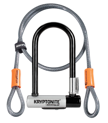 Kryptonite-Kryptolok Mini U-Lock w/ 4ft Kryptoflex Cable-Locks & Security-urban.ebikes