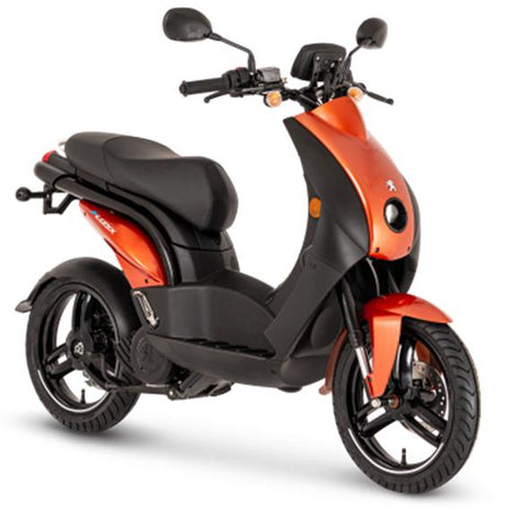 Peugeot-E-Ludix-Electric Moped-Orange-urban.ebikes