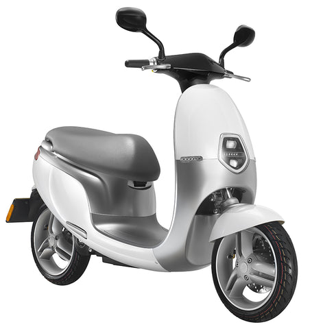 Ecooter-Ecooter E1R - 50mph-Electric Moped-White-urban.ebikes
