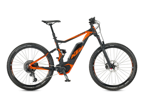 "KTM-KTM Macina Lycan 271-Mountain Ebike-17""-Black Matt / Orange-urban.ebikes"
