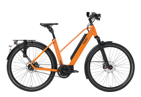 QWIC-MA11 Speed Performance 28mph Electric Bike-Speed Pedelec-Dutch Orange Comfort-Medium 48cm-525Wh 80 Miles-urban.ebikes