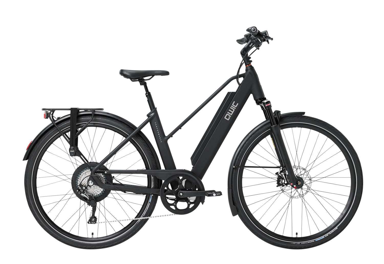 QWIC-RD11 Performance 15.5mph-Classic ebike-Matt Black Comfort-Medium 48cm-525Wh-urban.ebikes