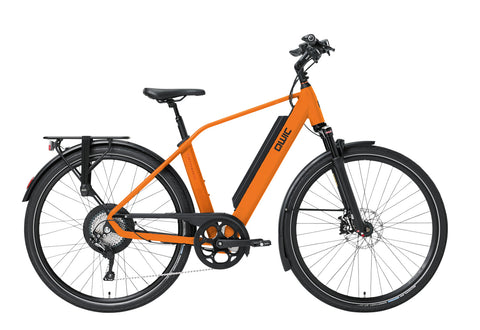 QWIC-RD11 Performance 15.5mph-Classic ebike-Dutch Orange Sport-Medium 48cm-525Wh 80 Miles-urban.ebikes