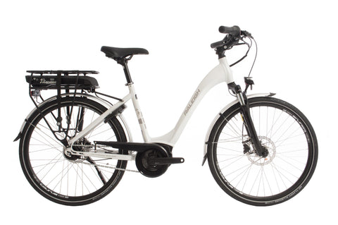 "Motus Tour-Classic ebike-Raleigh-Small - 46cm - 26"" Wheel-White-Comfort-urban.ebikes"