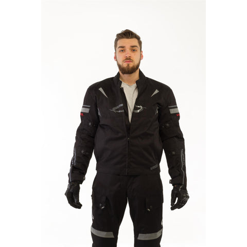 Viper-Waterproof Motorcycle Jacket-Clothing-36-Black-urban.ebikes