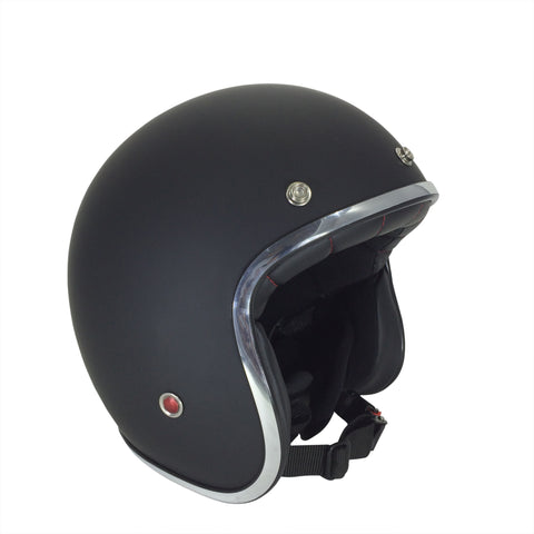 Viper-Slim Open Face Helmet RS-05-Moped Helmet-XS - 54cm-Matt Black-urban.ebikes