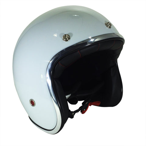 Viper-Slim Open Face Helmet RS-05-Moped Helmet-XS - 54cm-White-urban.ebikes