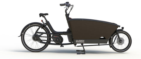 Urban Arrow-Family-Cargo eBike-Black-Active PLUS Rollerbrake 400Wh-urban.ebikes