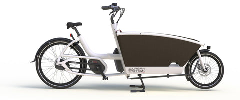 Urban Arrow-Family-Cargo eBike-White-Active PLUS Rollerbrake 400Wh-urban.ebikes