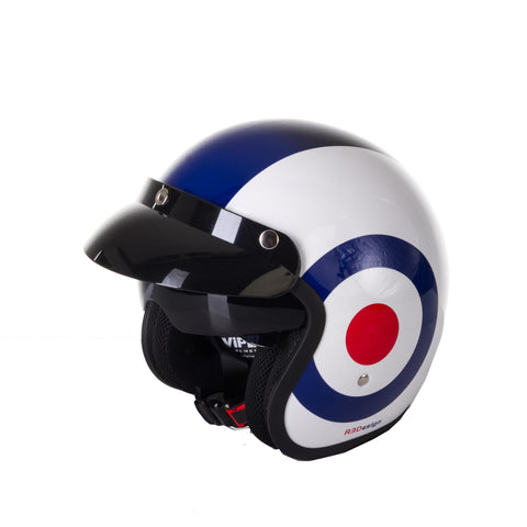 Viper-Open Face Retro Helmet RS-V06-Moped Helmet-Union Jack Target-XS - 54cm-urban.ebikes