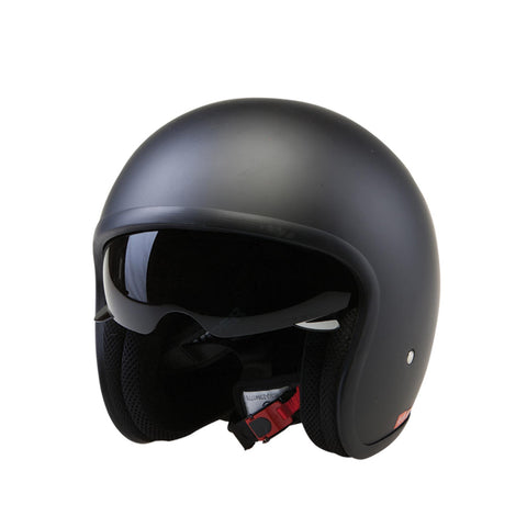 Viper-Open Face Retro Scooter Moped Helmet RS-V06-Moped Helmet-Matt Black-XS 53-54cm-urban.ebikes
