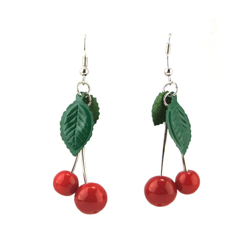 Cherry Earrings - Long
