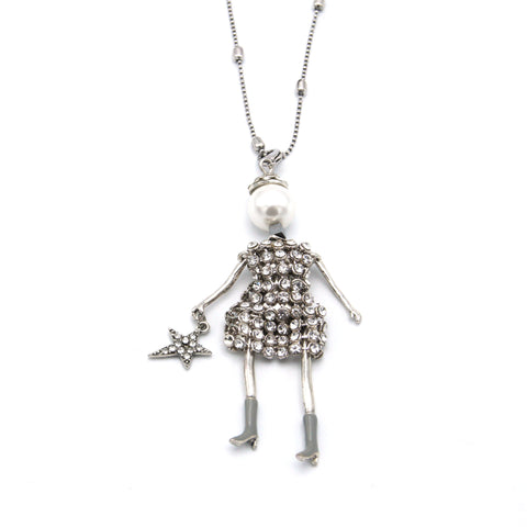 Destiny French Doll Long Necklace - Medium
