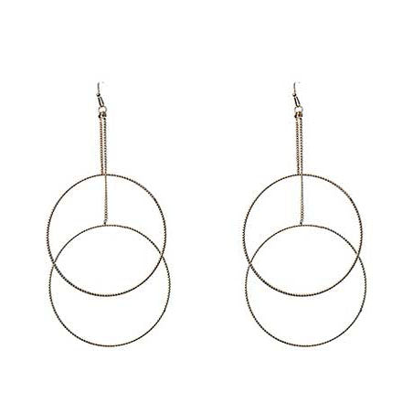 Double Circle Fine Earrings - Gold