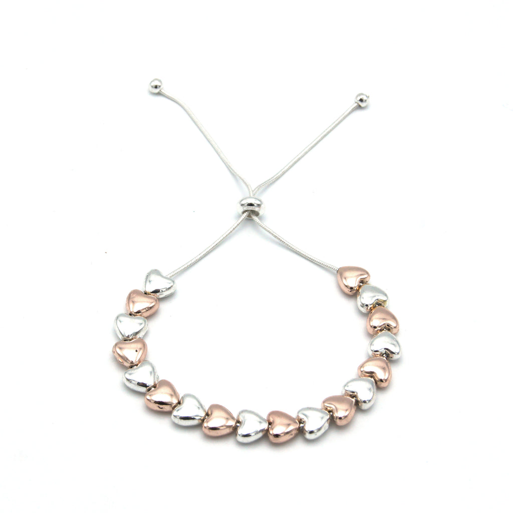 Friendship Bracelet - Silver & Rose Gold