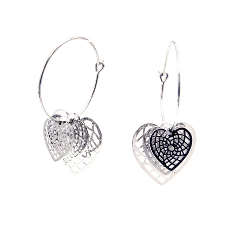 Live Heart Earrings