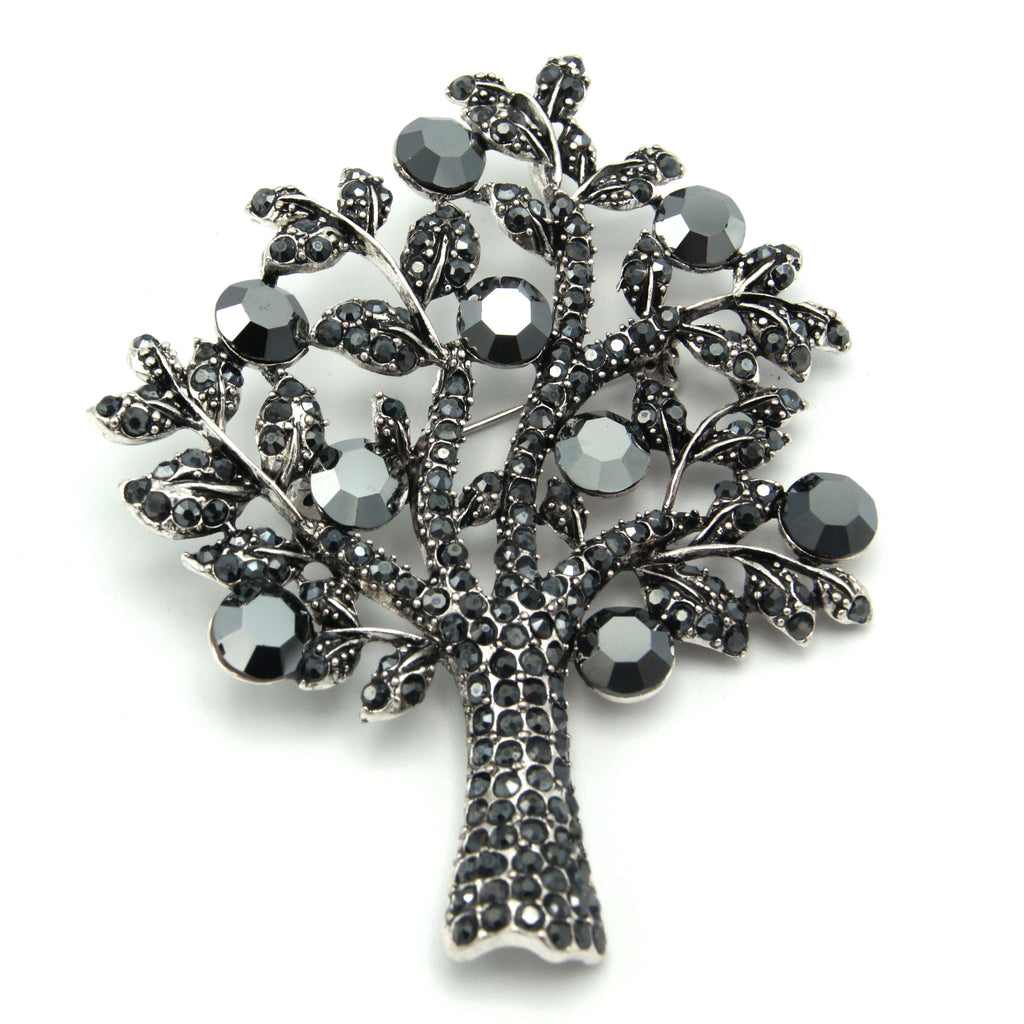 London Tree Brooch - Black