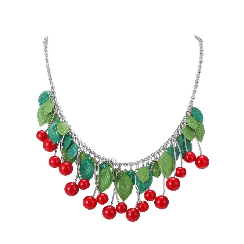 Cherry Necklace with Long Cherries