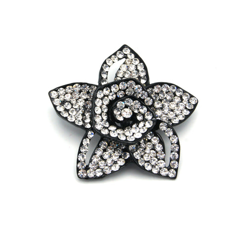 Star Flower Brooch - Clear