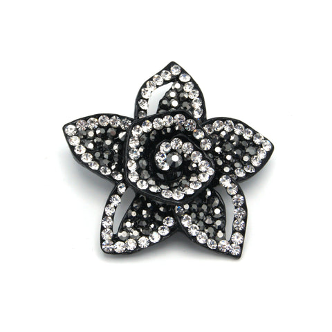 Star Flower Brooch - Clear & Dark