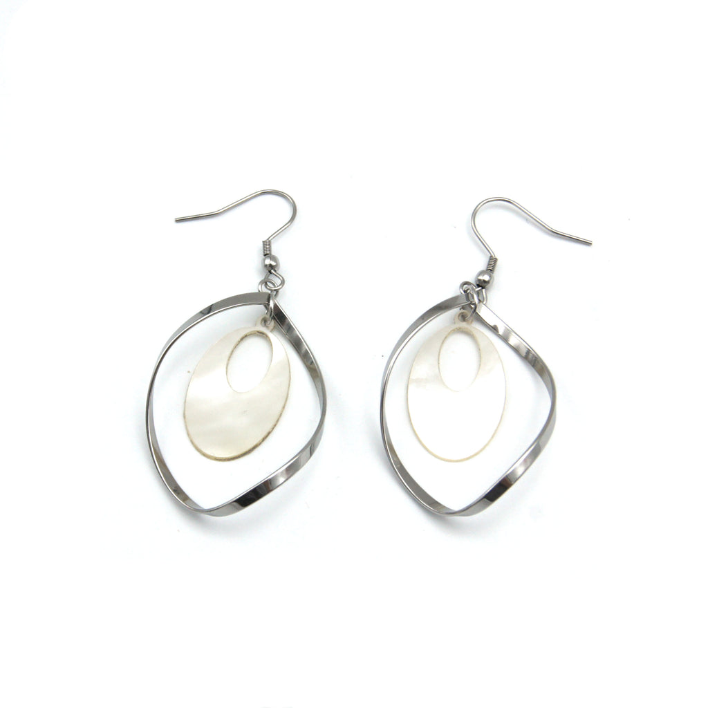 Twirl and Shell Earrings