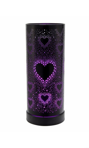 Black Hearts Colour Changing LED Hot Plate Electric Burner - Candles Sniffs & Gifts
