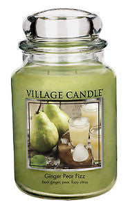 GINGER PEAR FIZZ Village Candle Large Jar 26oz 1219g - Candles Sniffs & Gifts
