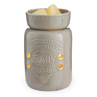 Electric Wax Melt Warmer Burner Faith Family - Candles Sniffs & Gifts