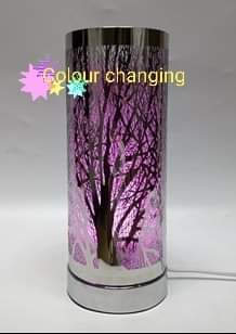 Silver Colour Changing Tree Electric Hot Plate Burner - Candles Sniffs & Gifts