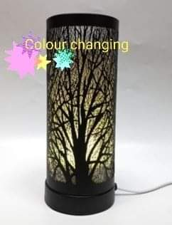 Black Colour Changing Tree Electric Hot Plate Burner - Candles Sniffs & Gifts